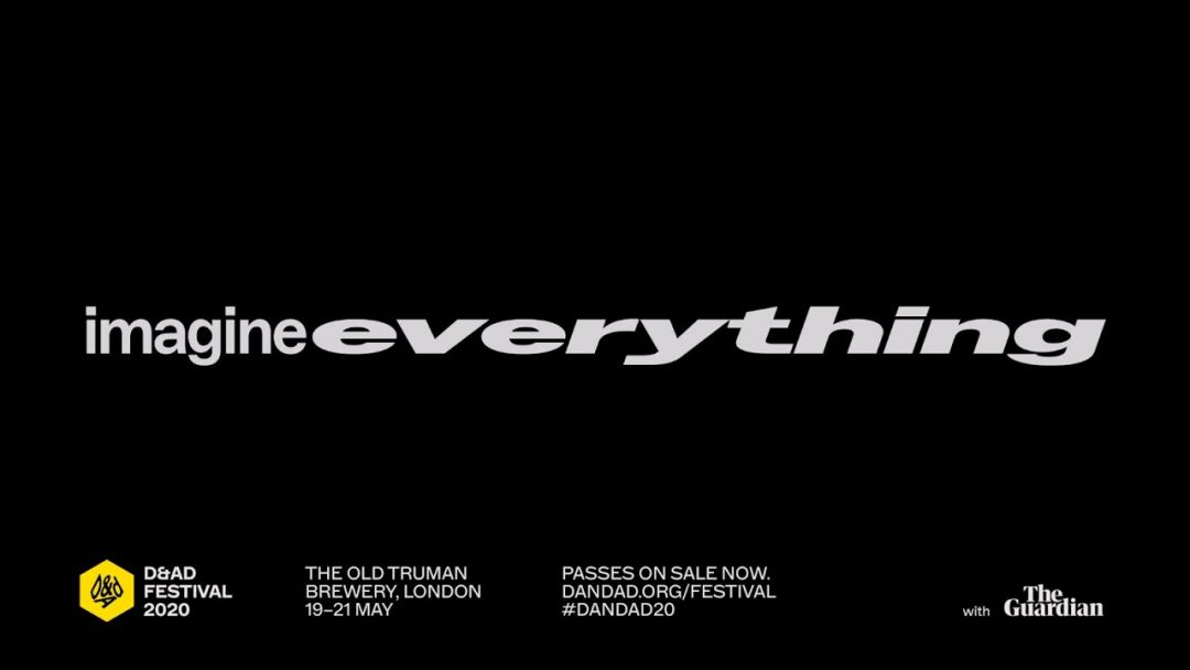 Music & Sound for 2020 D&AD Festival, Imagine Everything