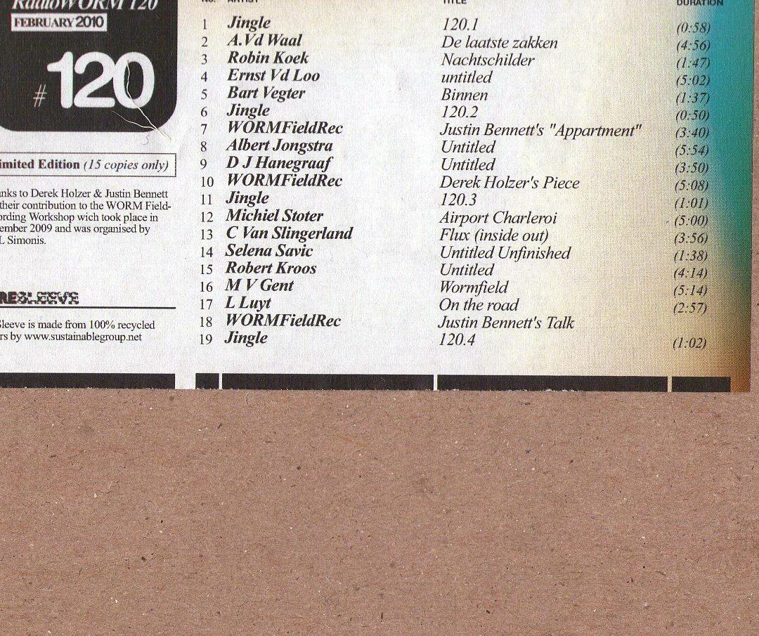 Various / RadioWORM #120 Fieldrecording Workshop
