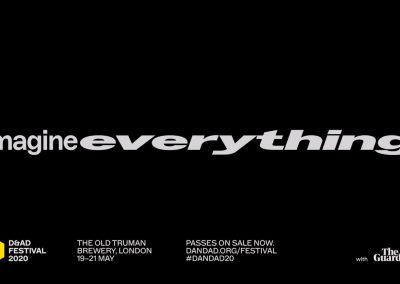 Music & Sound for trailer by Studio Dumbar for 2020 D&AD Festival, Imagine Everything