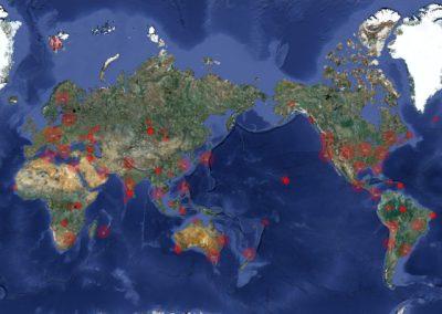 Fieldrecordings placed on the worldmap Radio Aporee